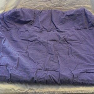 Lands End Purple CRIB TODDLER BED Fitted Blanket